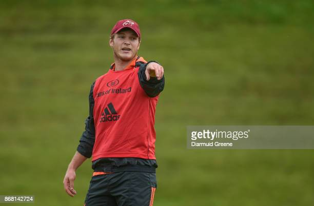 Limerick Ireland 30 October 2017 Tyler Bleyendaal of Munster during Munster Rugby Squad Training at the University of Limerick in Limerick