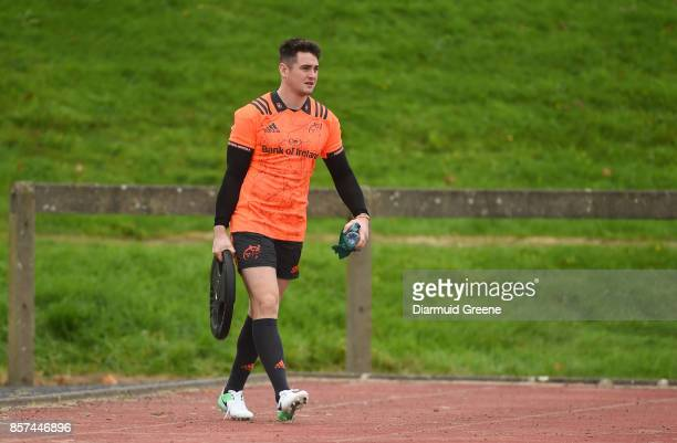 Limerick Ireland 4 October 2017 Ronan O'Mahony of Munster makes his way out for Munster Rugby Squad Training at the University of Limerick in Limerick