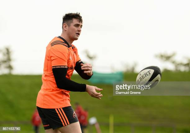 Limerick Ireland 4 October 2017 Ronan O'Mahony of Munster trains separate from teammates during Munster Rugby Squad Training at the University of...