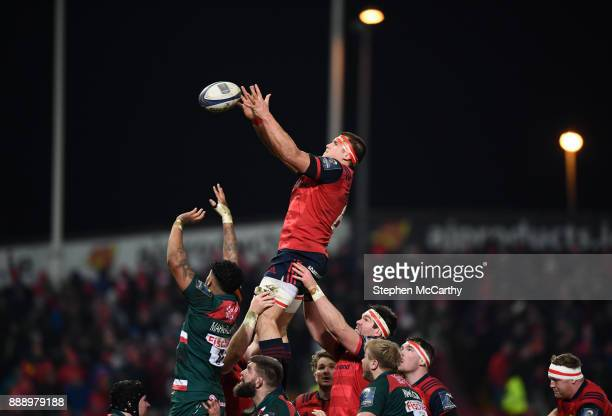 Limerick Ireland 9 December 2017 CJ Stander of Munster takes possession in a lineout during the European Rugby Champions Cup Pool 4 Round 3 match...