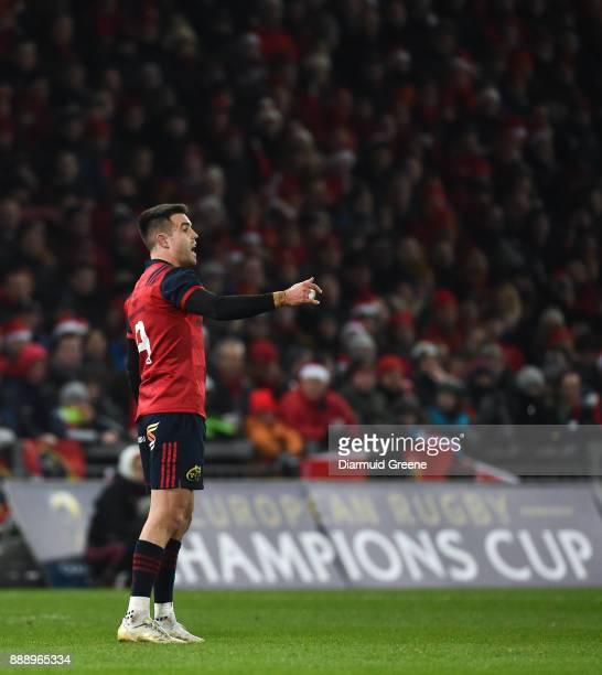 Limerick Ireland 9 December 2017 Conor Murray of Munster during the European Rugby Champions Cup Pool 4 Round 3 match between Munster and Leicester...