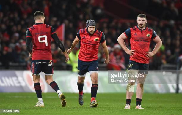 Limerick Ireland 9 December 2017 Duncan Williams of Munster comes on to replace teammate Conor Murray during the European Rugby Champions Cup Pool 4...