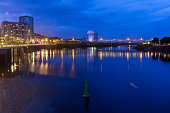 Limerick Quays and the Shannon night