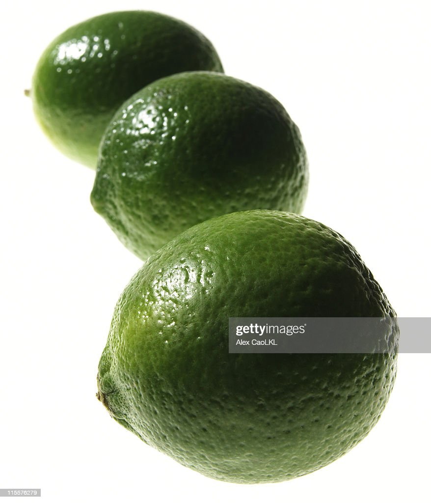 Limes in a row : Stock Photo