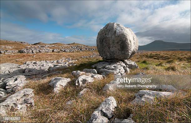 Limestone boulder