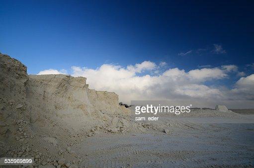 limestone break and sky : Stock Photo