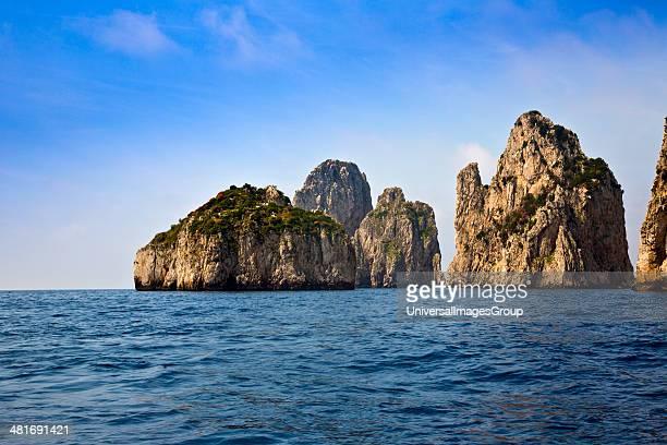 Limestone cliffs and cave in the sea Capri Campania Italy