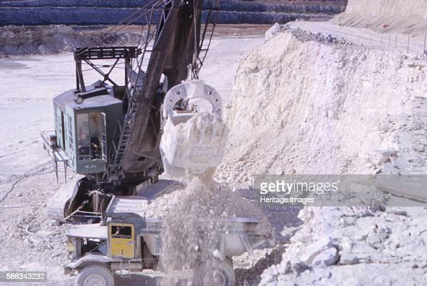 Limestone Quarry Essex UK 20th century Limestone required for commercial purposes is extracted by quarrying which creates pollution from noise and...