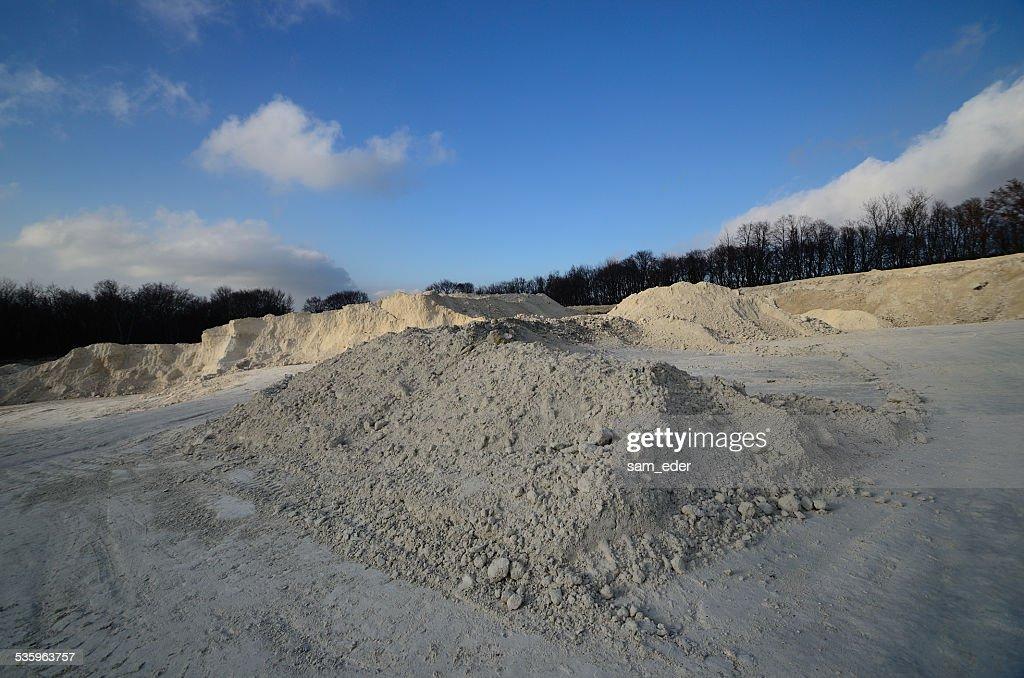 limestone quarry : Stock Photo