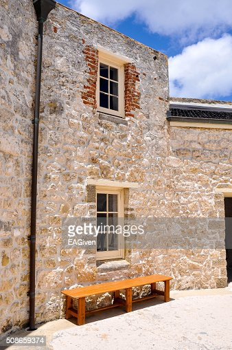 Limestone Walls: The Round House : Stock Photo
