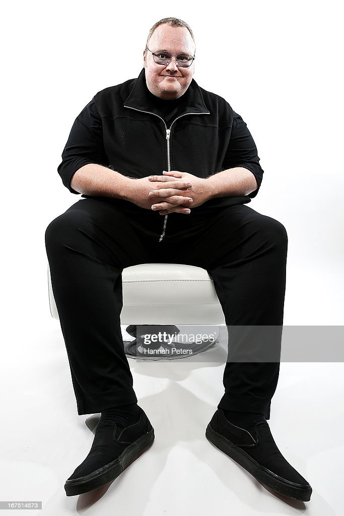 Limited founder, <a gi-track='captionPersonalityLinkClicked' href=/galleries/search?phrase=Kim+Dotcom&family=editorial&specificpeople=8806663 ng-click='$event.stopPropagation()'>Kim Dotcom</a> poses during a portrait session at the Dotcom Mansion on April 26, 2013 in Auckland, New Zealand. MEGA Limited this year launched cloud storage service 'Mega.co.nz', the successor to the controversial file sharing service 'Megaupload.com' shut down by the US Department of Justice in January 2012.