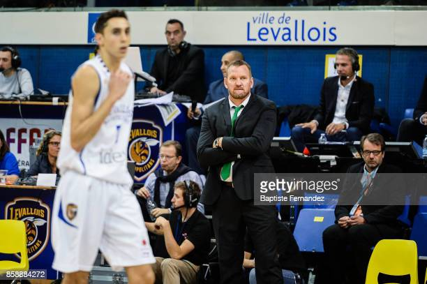 Limoges head coach Kyle Milling during the Pro A match between Levallois and Limoges on October 7 2017 in LevalloisPerret France
