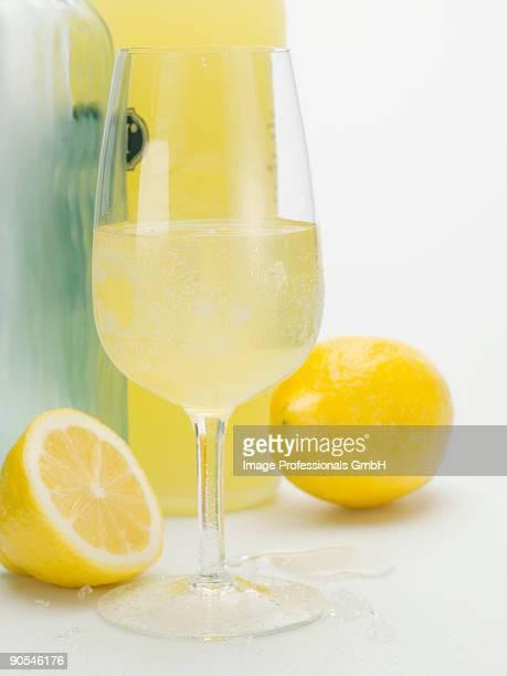 Limoncello and fresh lemons