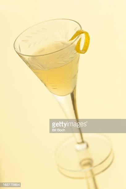 Limoncello liqueur in a glass