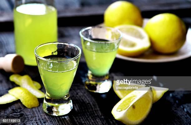 Limoncello shots and lemons