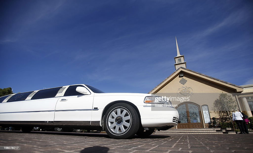 A limousine arrives at the Little Chapel of the Flowers on December 12, 2012 in Las Vegas, Nevada. Couples around the world are hoping that a once-in-a-lifetime event, the date 12/12/12, will bring added luck to their marriages if they tie the knot today. This will be the last such triple date for almost a century, until January 1, 2101.