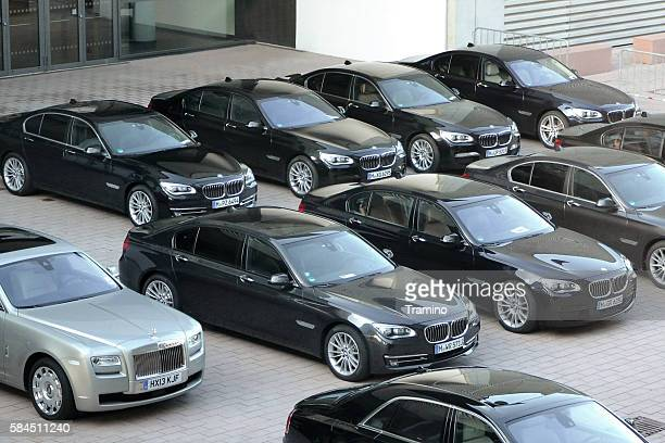 BMW limousines on the parking