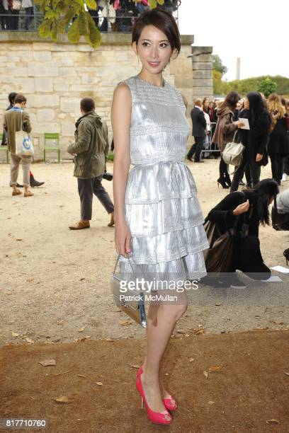 Lin Chiling attends Christian Dior Ready to Wear SpringSummer 2011CONTACT SIPA PRESS FOR SALES at Espace Ephemere Tuileries on October 1 2010 in...