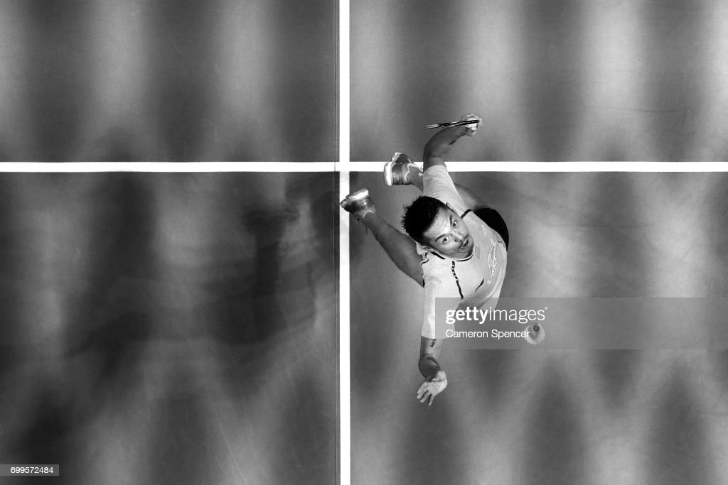 Lin Dan Of China Plays A Shot During His R16 Match Against Jonatan Christie Indonesia