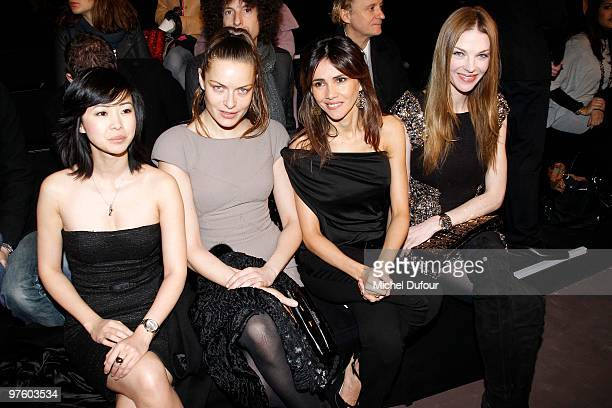 Lin Dan Pham Rie Rasmussen Goya Toledo and Paulina Nemcova attend the Elie Saab Ready to Wear show as part of the Paris Womenswear Fashion Week...