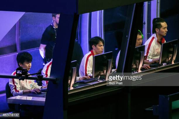 Lin ddc and Yao of LGD Gaming compete at The International DOTA 2 Champsionships at Key Arena on July 19 2014 in Seattle Washington