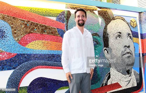 Lin Manuel Miranda attends the inauguration of his family business 'La Placita de Guisin' on August 24 2017 in Vega Alta Puerto Rico