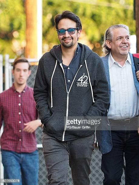 Lin Manuel Miranda seen at Jimmy Kimmel Live on November 11 2016 in Los Angeles California