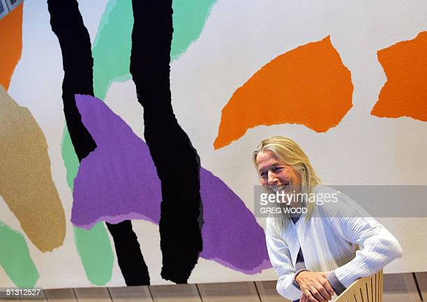 Lin Utzon laughs as she talks about the making of a 14metre long woolen tapestry which she supervised designed by her father and architect Jorn Utzon...