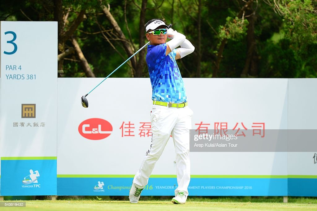 Lin Weng Tang of Chinese Taipei pictured during the ProAM tournament ahead of Yeangder Tournament Players Championship at Linkou International Golf Club on June 29, 2016 in Taipei, Taiwan.