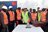 Lin Yi Chong CEO of HEC Company takes part in the start of the extension work to the extension of the Abidjan Vridi Canal at the Autonomous Port of...