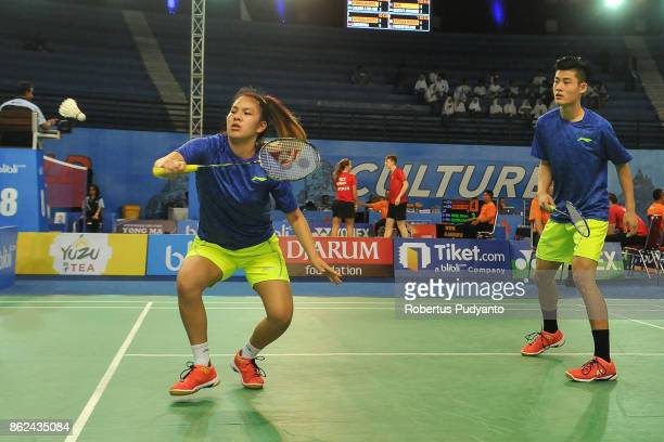 Lin Ying Xiang and Victoria He of Australia compete against Mohamed Mostafa Kamel and Hana Hesham Mohamed of Egypt during Mixed Double qualification...