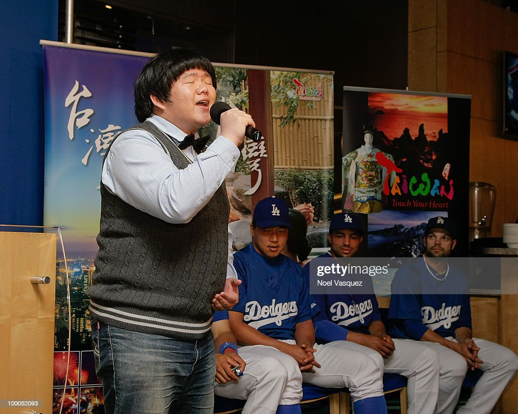 Lin Yu Chun attends the Los Angeles Dodger's news conference announcing partnership with Taiwan Tourism Board on May 20, 2010 in Los Angeles, California.