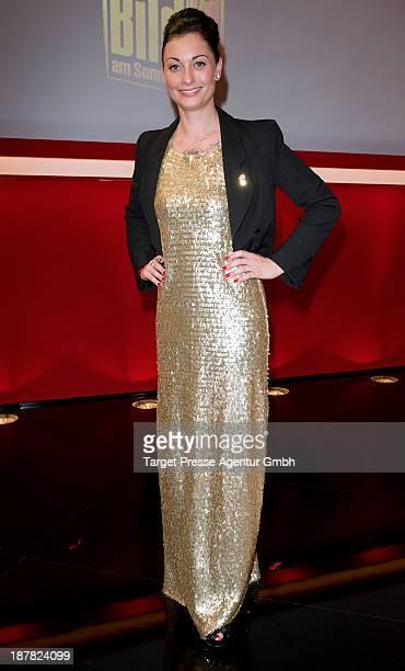 Lina De Mars attends the 'Goldenes Lenkrad' Award 2013 at Axel Springer Haus on November 12 2013 in Berlin Germany