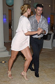 Lina Dovolani and Tony Dovolani attend Celebrity Golf Tournament Afterparty during Sandals Emerald Bay Celebrity Golf Weekend on June 4 2016 in Great...