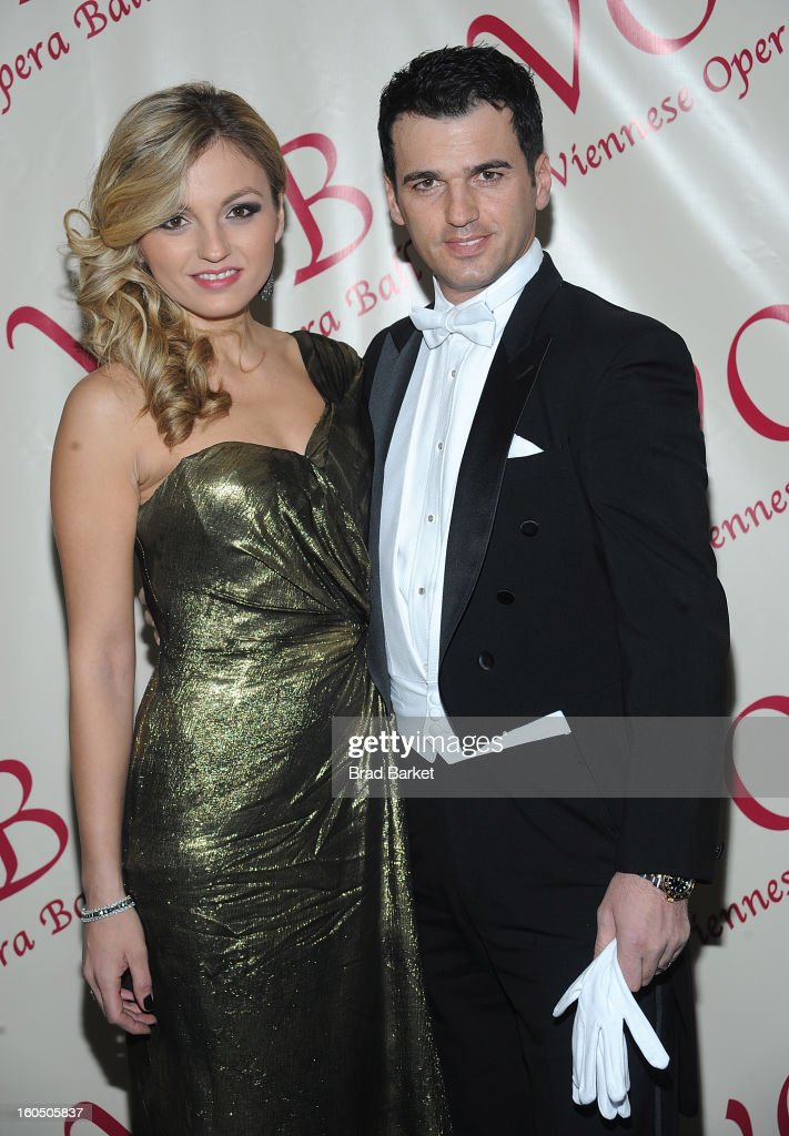Lina Dovolani and Tony Dovolani attends the The 58th Annual Viennese Opera Ball at The Waldorf=Astoria on February 1, 2013 in New York City.