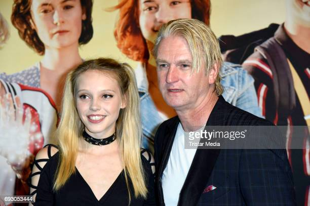 Lina Larissa Strahl and Detlev Buck attend the Bibi and Tina Photo Call and Award Reception at Atelier on June 6 2017 in Berlin Germany