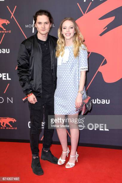 Lina Larissa Strahl and her boyfriend Poerzgen attend the New Faces Award Film at Haus Ungarn on April 27 2017 in Berlin Germany
