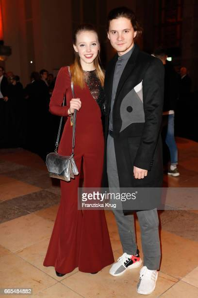 Lina Larissa Strahl and her boyfriend Tilman Poerzgen attend the Echo award after show party on April 6 2017 in Berlin Germany
