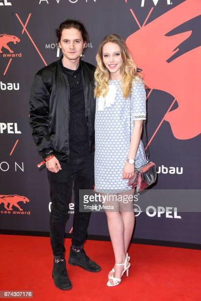 Lina Larissa Strahl and her boyfriend Tilman Poerzgen attend the New Faces Award Film at Haus Ungarn on April 27 2017 in Berlin Germany