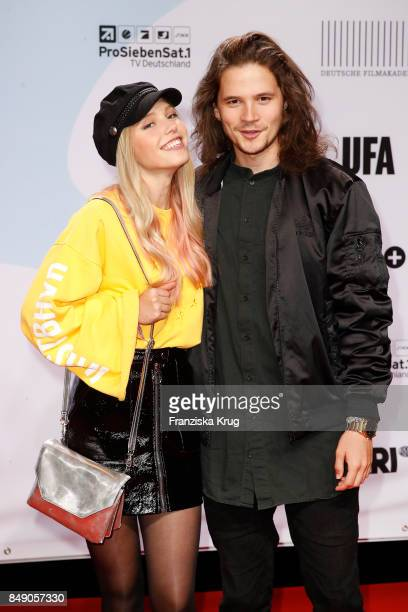 Lina Larissa Strahl and her boyfriend Tilman Poerzgen attend the First Steps Award 2017 at Stage Theater on September 18 2017 in Berlin Germany