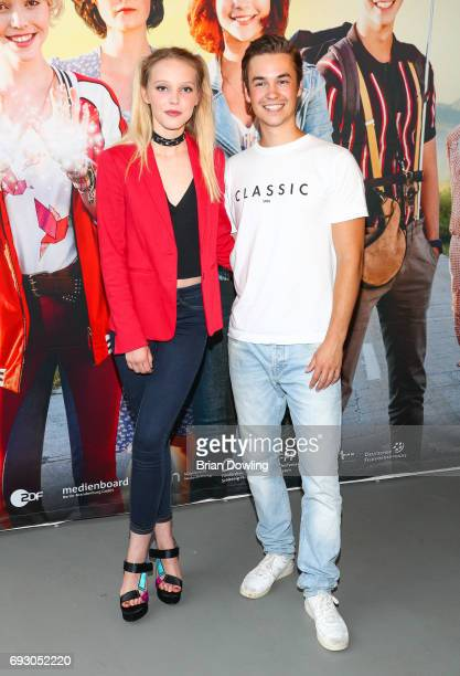 Lina Larissa Strahl and Louis Held attend the Bibi and Tina photo call and award reception at Atelier on June 6 2017 in Berlin Germany