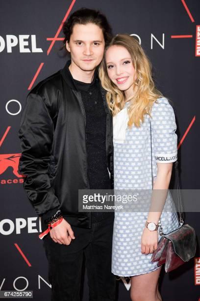 Lina Larissa Strahl and Tillman Poerzgen attend the New Faces Award Film at Haus Ungarn on April 27 2017 in Berlin Germany