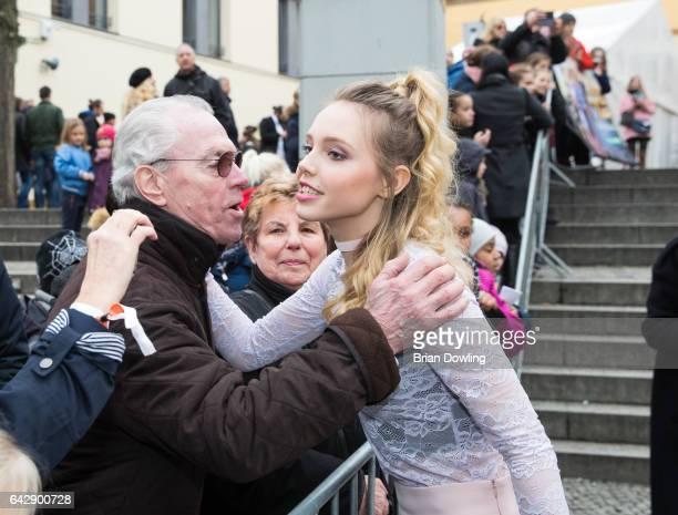 Lina Larissa Strahl arrives at the German premiere of the film 'Bibi Tina Tohuwabohu Total' at Kino in der Kulturbrauerei on February 19 2017 in...