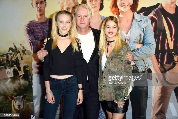 Lina Larissa Strahl Detlev Buck and LisaMarie Koroll attend the Bibi and Tina Photo Call and Award Reception at Atelier on June 6 2017 in Berlin...