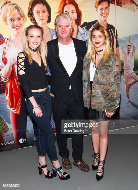 Lina Larissa Strahl director Detlev Buck and Lisa Marie Koroll attends the Bibi and Tina photo call and award reception at Atelier on June 6 2017 in...
