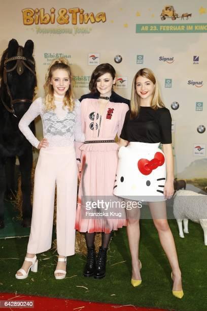 Lina Larissa Strahl Lea van Acken and LisaMarie Koroll attend the German premiere of the film 'Bibi Tina Tohuwabohu Total' at Kino in der...