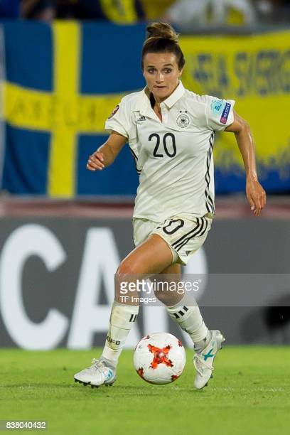 Lina Magull of Germany controls the ball during the Group B match between Germany and Sweden during the UEFA Women's Euro 2017 at Rat Verlegh Stadion...