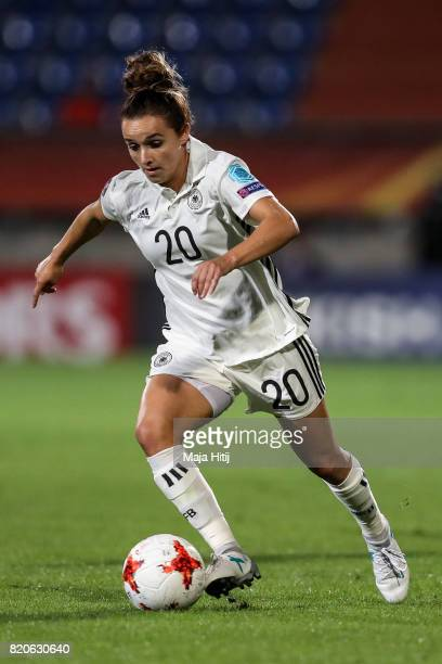 Lina Magull of Germany controls the ball during the UEFA Women's Euro 2017 at Koning Willem II Stadium on July 21 2017 in Tilburg Netherlands