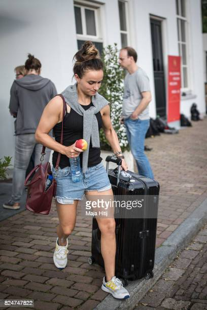 'SHERTOGENBOSCH NETHERLANDS JULY 31 Lina Magull of Germany leaves the team base hotel on July 31 2017 in 'sHertogenbosch Netherlands