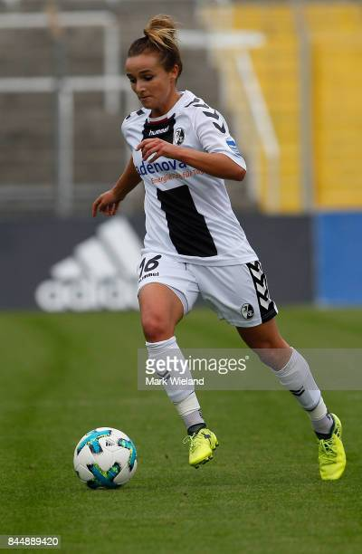 Lina Magull of SC Freiburg in action during the women Bundesliga match between Bayern Muenchen and SC Freiburg at Stadion an der Gruenwalder Strasse...